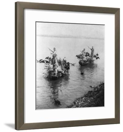 Fishing in Grand Canal in Soo-chow China Photograph - Soo-chow, China-Lantern Press-Framed Art Print