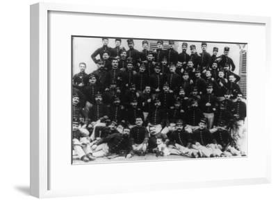 Greek Infantry Officers Photograph - Greece-Lantern Press-Framed Art Print
