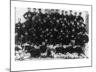 Greek Infantry Officers Photograph - Greece-Lantern Press-Mounted Art Print