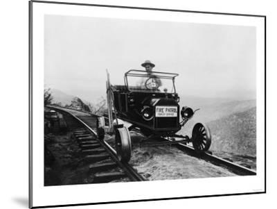Forest Service Fire Patrol Photograph-Lantern Press-Mounted Art Print