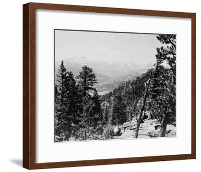 Longs Peaks and the Continental Divide Photograph - Colorado-Lantern Press-Framed Art Print