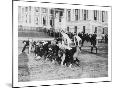 Columbia University Football Players Photograph - New York, NY-Lantern Press-Mounted Art Print