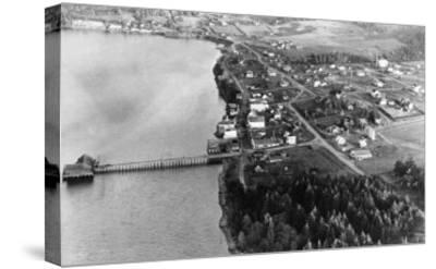 Coupeville, WA View from Air Whidby Island Photograph - Coupeville, WA-Lantern Press-Stretched Canvas Print