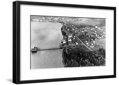 Coupeville, WA View from Air Whidby Island Photograph - Coupeville, WA-Lantern Press-Framed Art Print