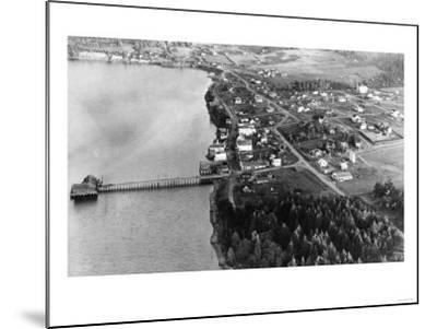 Coupeville, WA View from Air Whidby Island Photograph - Coupeville, WA-Lantern Press-Mounted Art Print