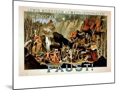 Faust Musical Theatre Poster-Lantern Press-Mounted Art Print