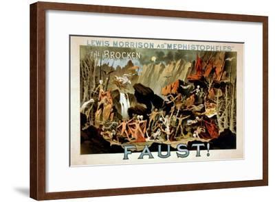 Faust Musical Theatre Poster-Lantern Press-Framed Art Print