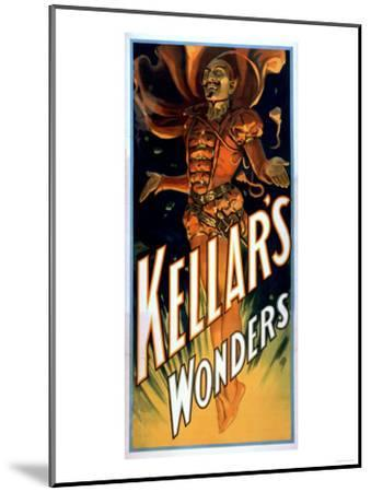 Kellar's Wonders Dressed like Devil Magic Poster-Lantern Press-Mounted Art Print