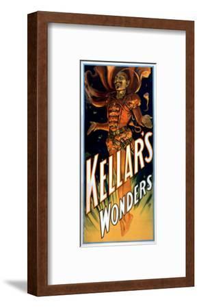 Kellar's Wonders Dressed like Devil Magic Poster-Lantern Press-Framed Art Print