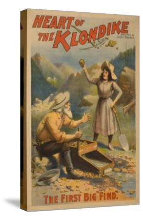 Heart of the Klondike Gold Mining Theatre Poster No.1-Lantern Press-Stretched Canvas Print