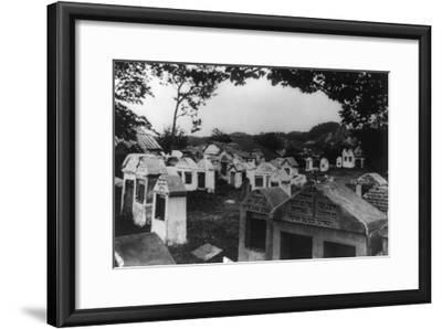 Jewish Cemetery in Russia Photograph - Vilna, Russia-Lantern Press-Framed Art Print