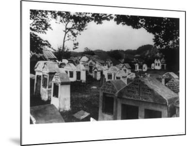 Jewish Cemetery in Russia Photograph - Vilna, Russia-Lantern Press-Mounted Art Print