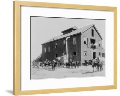 Cotton Gin in Dahomey Mississippi Photograph - Dahomey, MS-Lantern Press-Framed Art Print