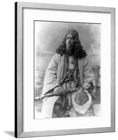 Dervish African Man in Sudan Photograph - Sudan-Lantern Press-Framed Art Print