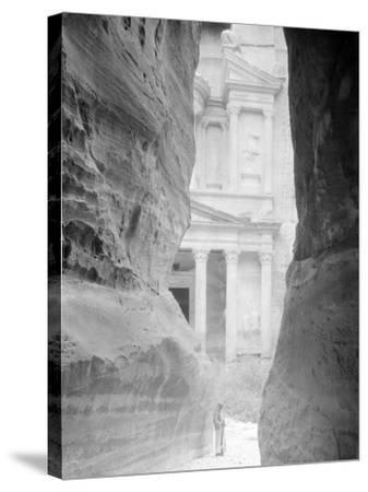 Entrance to Petra, Jordan Photograph - Petra, Jordan-Lantern Press-Stretched Canvas Print