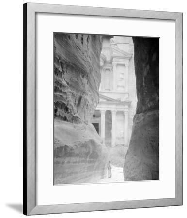 Entrance to Petra, Jordan Photograph - Petra, Jordan-Lantern Press-Framed Art Print