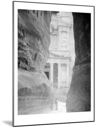 Entrance to Petra, Jordan Photograph - Petra, Jordan-Lantern Press-Mounted Art Print