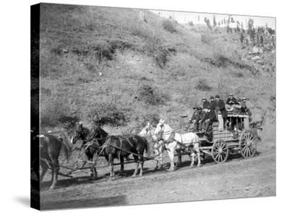 "Last Trip of the ""Deadwood Coach"" Photograph - Black Hills, SD-Lantern Press-Stretched Canvas Print"
