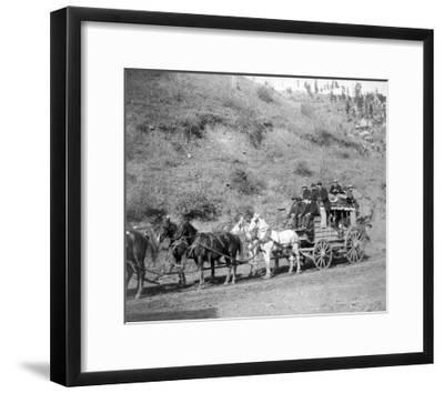 "Last Trip of the ""Deadwood Coach"" Photograph - Black Hills, SD-Lantern Press-Framed Art Print"