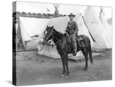 "Martha Canary ""Calamity Jane"" on Horseback Photograph-Lantern Press-Stretched Canvas Print"