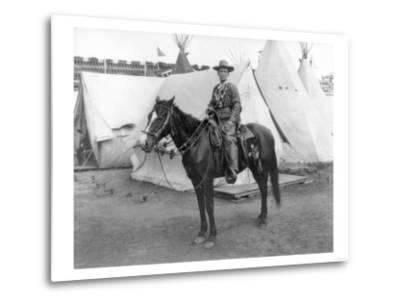 "Martha Canary ""Calamity Jane"" on Horseback Photograph-Lantern Press-Metal Print"