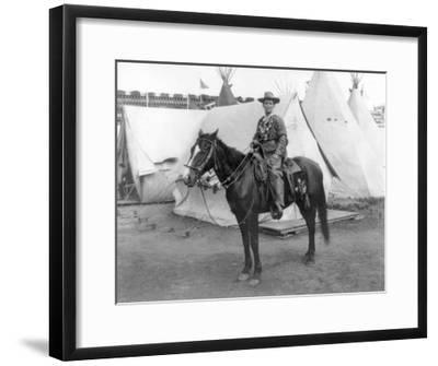 "Martha Canary ""Calamity Jane"" on Horseback Photograph-Lantern Press-Framed Art Print"