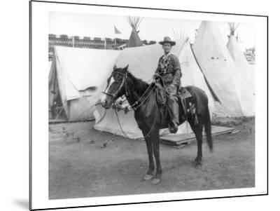 "Martha Canary ""Calamity Jane"" on Horseback Photograph-Lantern Press-Mounted Art Print"