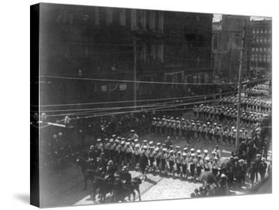 Funeral Procession for President Grant, Boys Marching NYC Photo - New York, NY-Lantern Press-Stretched Canvas Print