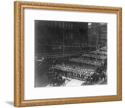 Funeral Procession for President Grant, Boys Marching NYC Photo - New York, NY-Lantern Press-Framed Art Print