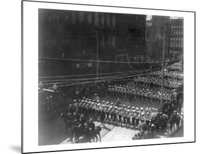 Funeral Procession for President Grant, Boys Marching NYC Photo - New York, NY-Lantern Press-Mounted Art Print