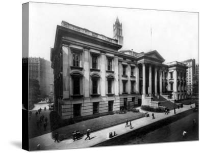 County Court House on Chambers Street NYC Photo - New York, NY-Lantern Press-Stretched Canvas Print