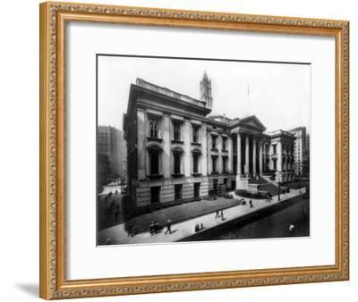 County Court House on Chambers Street NYC Photo - New York, NY-Lantern Press-Framed Art Print