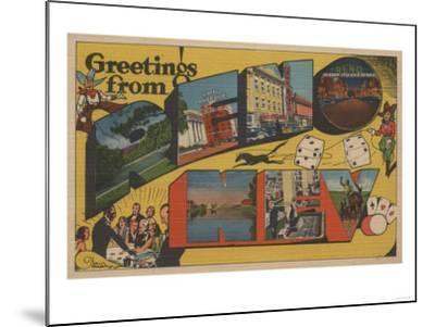 Greetings from Reno, Nevada - Reno, NV-Lantern Press-Mounted Art Print