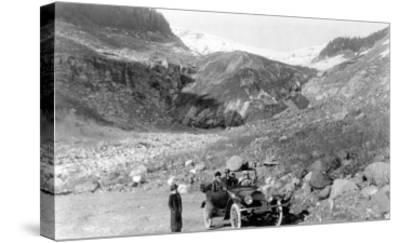 Nisqually Glacier, Rainier National Park - Rainier National Park-Lantern Press-Stretched Canvas Print
