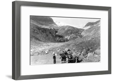 Nisqually Glacier, Rainier National Park - Rainier National Park-Lantern Press-Framed Art Print