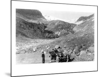 Nisqually Glacier, Rainier National Park - Rainier National Park-Lantern Press-Mounted Art Print