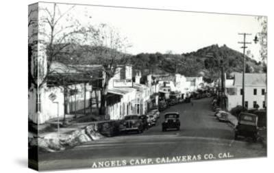 Street Scene - Angels Camp, CA-Lantern Press-Stretched Canvas Print