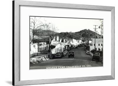 Street Scene - Angels Camp, CA-Lantern Press-Framed Art Print