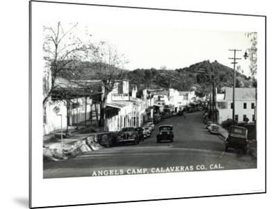 Street Scene - Angels Camp, CA-Lantern Press-Mounted Art Print