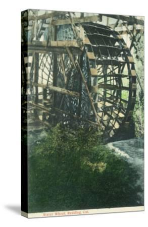 View of a Water Wheel - Redding, CA-Lantern Press-Stretched Canvas Print