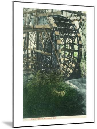 View of a Water Wheel - Redding, CA-Lantern Press-Mounted Art Print