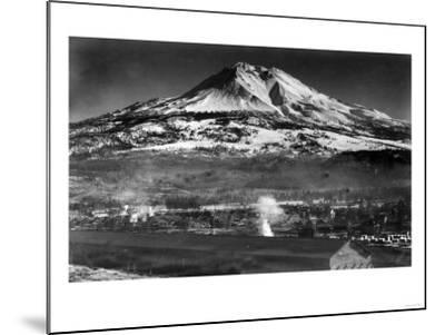 Mt. Shasta View from City - Weed, CA-Lantern Press-Mounted Art Print