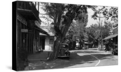 View of Main Street - Columbia, CA-Lantern Press-Stretched Canvas Print