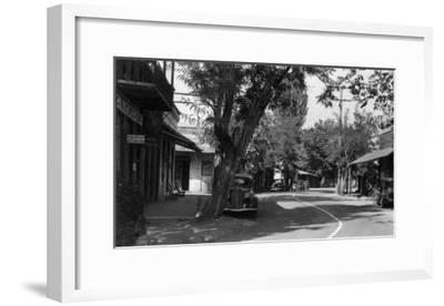 View of Main Street - Columbia, CA-Lantern Press-Framed Art Print