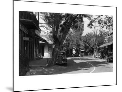 View of Main Street - Columbia, CA-Lantern Press-Mounted Art Print