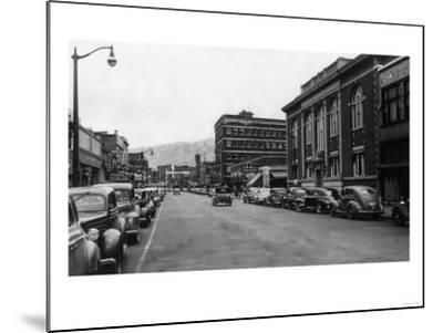 View of a City Street Scene - Lewiston, ID-Lantern Press-Mounted Art Print