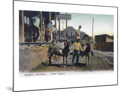 View of Donkeys Carrying Water - Bisbee, AZ-Lantern Press-Mounted Art Print