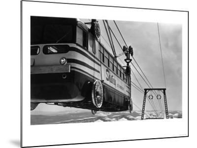 Mt. Hood Skiway Lift View from Upper Terminal - Mt. Hood, OR-Lantern Press-Mounted Art Print