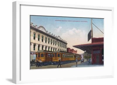 Northern Electric Rail Depot - Sacramento, CA-Lantern Press-Framed Art Print