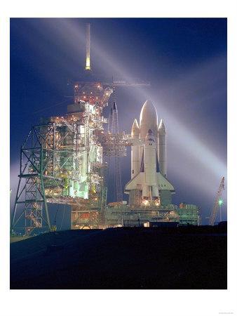 STS-1 Pre-Launch Photograph - Cape Canaveral, FL-Lantern Press-Framed Art Print